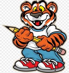 bessemer city middle school tiger clipart tiger at school clip art 11831 [ 840 x 997 Pixel ]
