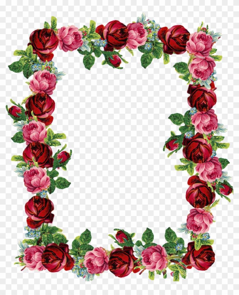 hight resolution of free digital vintage rose frame and border transparent background rose border 16088