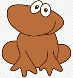 cute little brown frog brown frog clipart [ 840 x 969 Pixel ]