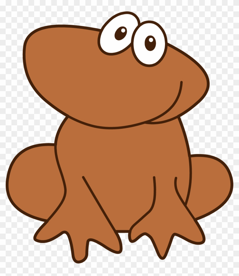 medium resolution of cute little brown frog brown frog clipart