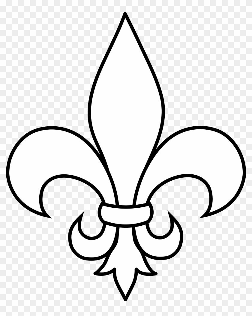 hight resolution of black and white fleur de lis outline fleur de lis clip art 77949