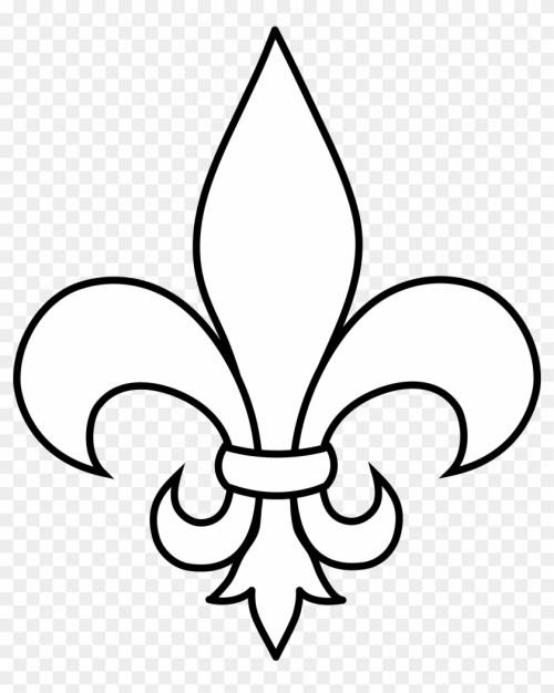 small resolution of black and white fleur de lis outline fleur de lis clip art 77949