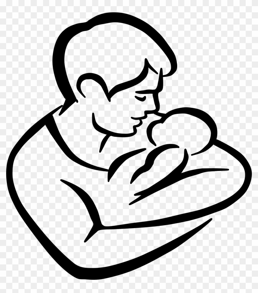 hight resolution of father and child clipart dad and baby drawing 85996