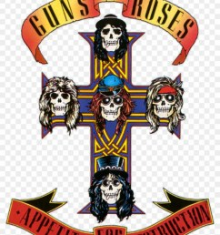 vintage guns roses sticker rock and roll band guns n roses appetite [ 840 x 1191 Pixel ]