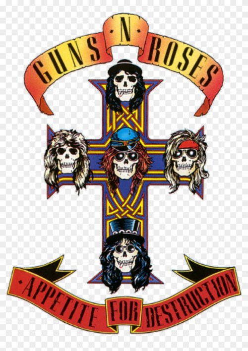 small resolution of vintage guns roses sticker rock and roll band guns n roses appetite