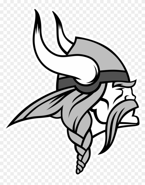 small resolution of minnesota vikings logo black and white vikings logo
