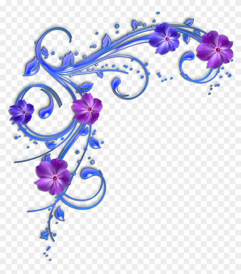 hight resolution of purple flower clipart flower border purple and blue flowers clipart 95242