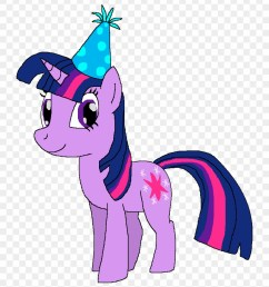 twilight sparkle with a birthday hat by kylgrv my little pony twilight sparkle birthday [ 840 x 950 Pixel ]