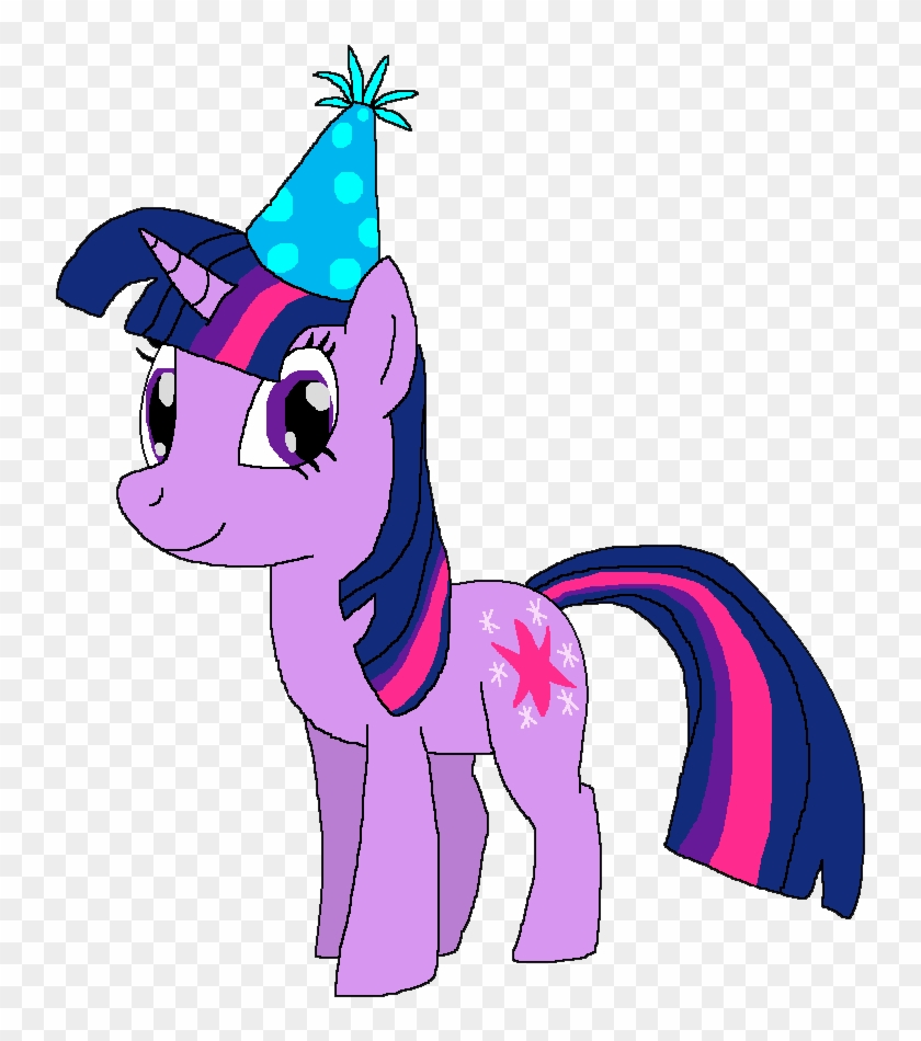 hight resolution of twilight sparkle with a birthday hat by kylgrv my little pony twilight sparkle birthday