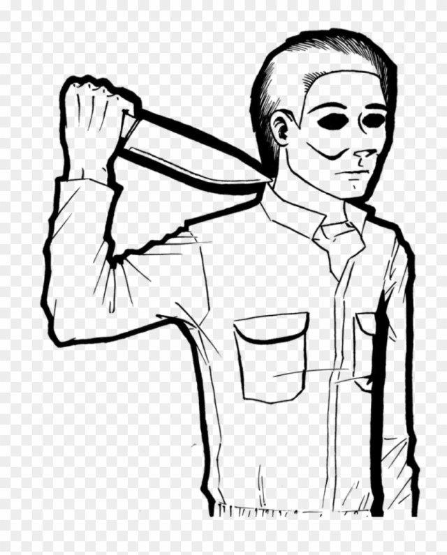 Mike Myers Lineart By Cyberii On Deviantart - Easy To Draw Michael