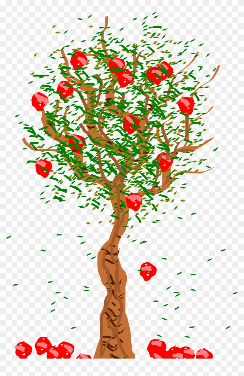 medium resolution of clipart apple plant tree fruits falling from tree