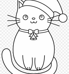 cat clipart line art christmas kittens coloring pages [ 840 x 1162 Pixel ]