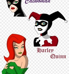 harley quinn clipart face cartoon poison ivy and harley quinn 697287 [ 840 x 1289 Pixel ]