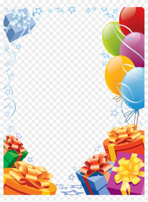 small resolution of confetti clipart birthday frames happy birthday transparent frame