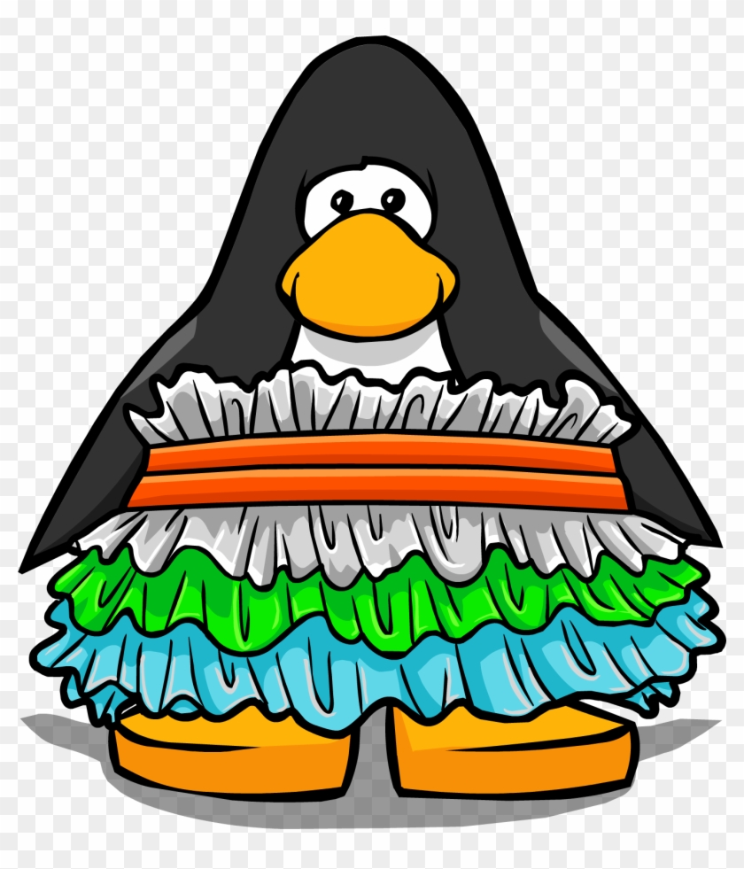 hight resolution of snow cone ruffle dress from a player card club penguin