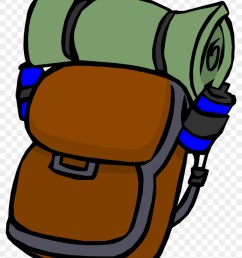 camp clipart backpack club penguin backpack [ 840 x 1112 Pixel ]