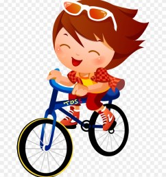 bike clipart kid tricycle children cycling cartoon [ 840 x 987 Pixel ]