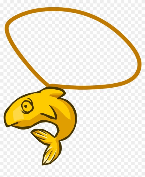 small resolution of 14k fish necklace club penguin fish items