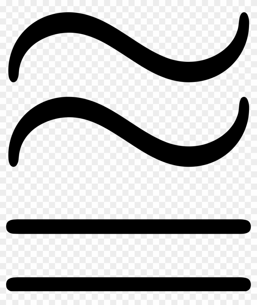 hight resolution of open approximately equal symbol transparent