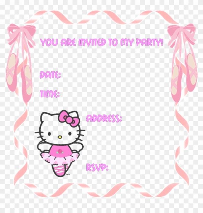 O Kitty Party Invitation Templates Birthday Cards 801081