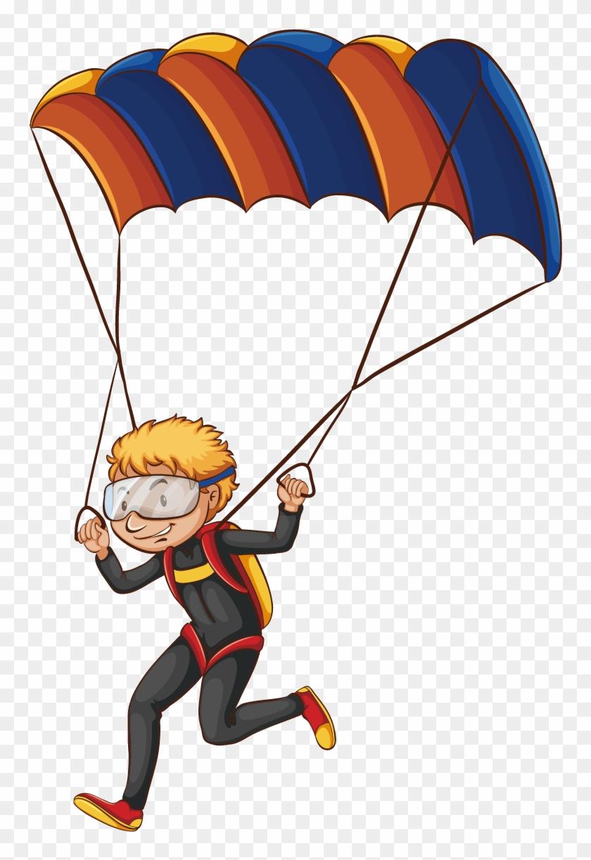 medium resolution of parachuting parachute can stock photo clip art cartoon parachutes 817541