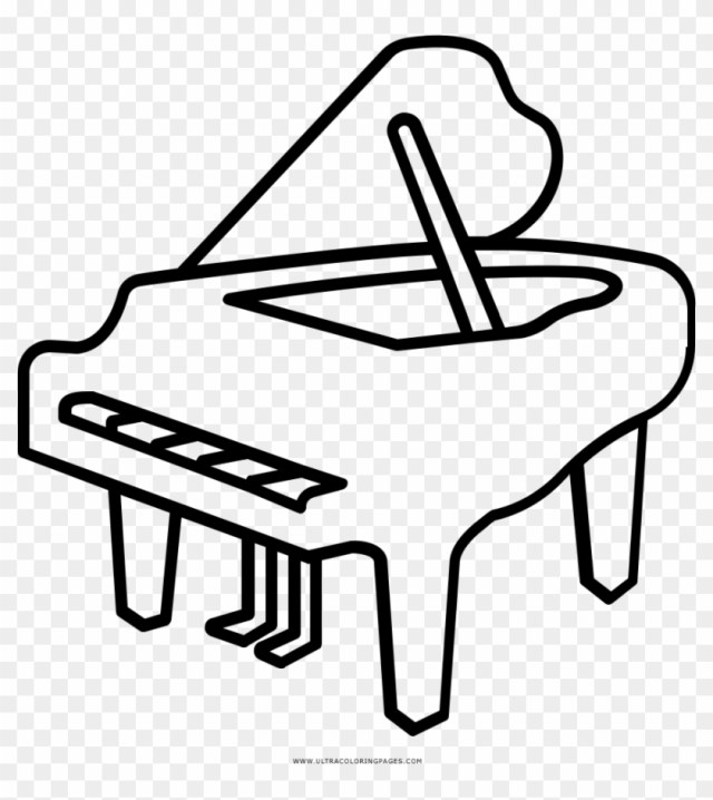 Piano Coloring Page - Piano Coloring Page - Free Transparent PNG