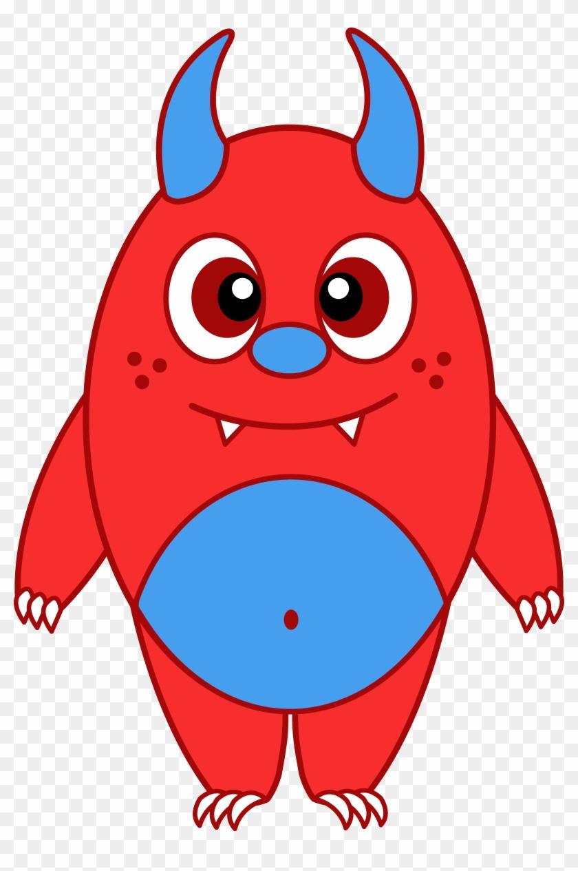 hight resolution of cartoon monsters clip art little red monster