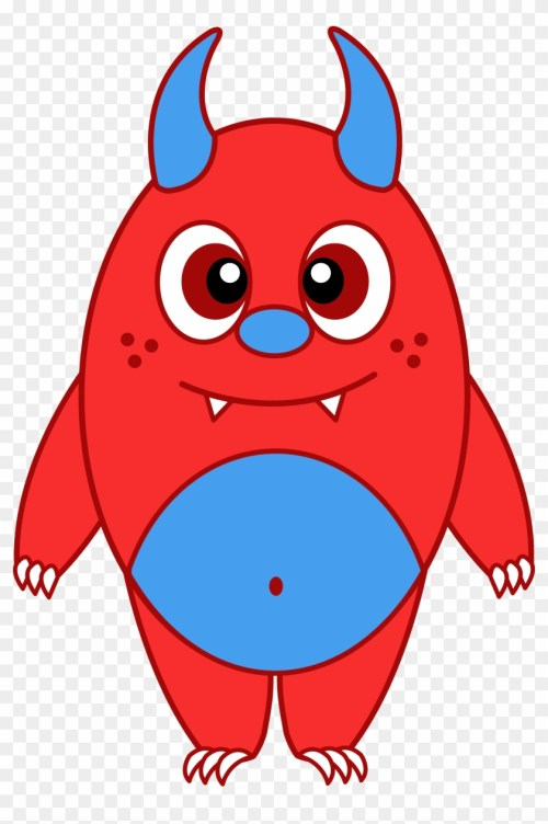 small resolution of cartoon monsters clip art little red monster