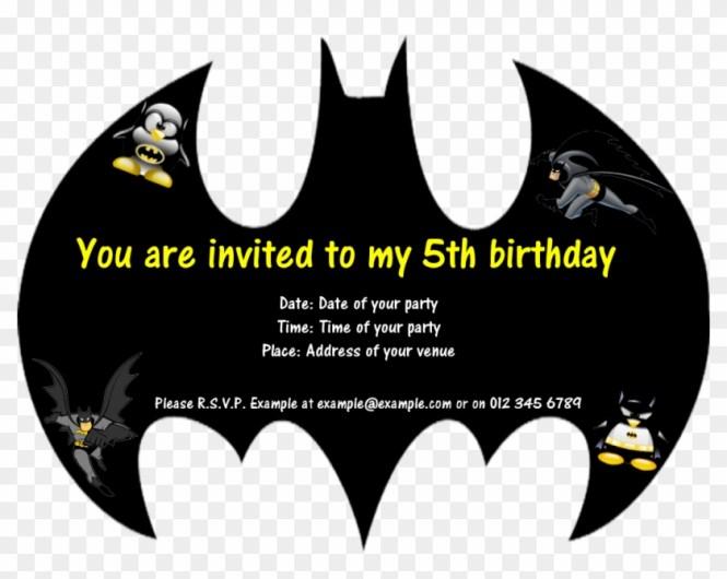 Card Batman Birthday Template