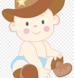 baby cowboy clipart [ 840 x 1227 Pixel ]