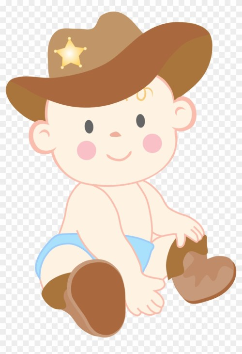 small resolution of baby cowboy clipart