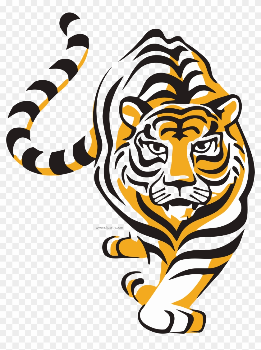 hight resolution of walking wild tiger clipart png tiger vector 868498