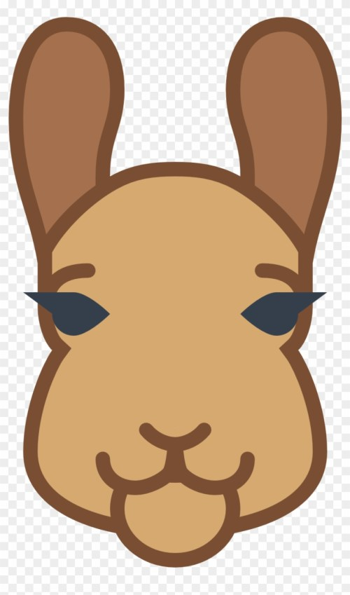 small resolution of llama clipart face icon