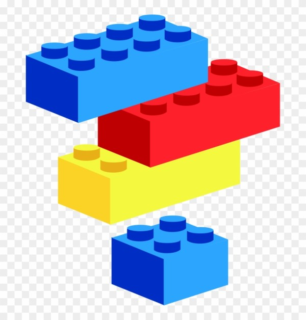 Baby Blocks Clipart - Lego Free Transparent