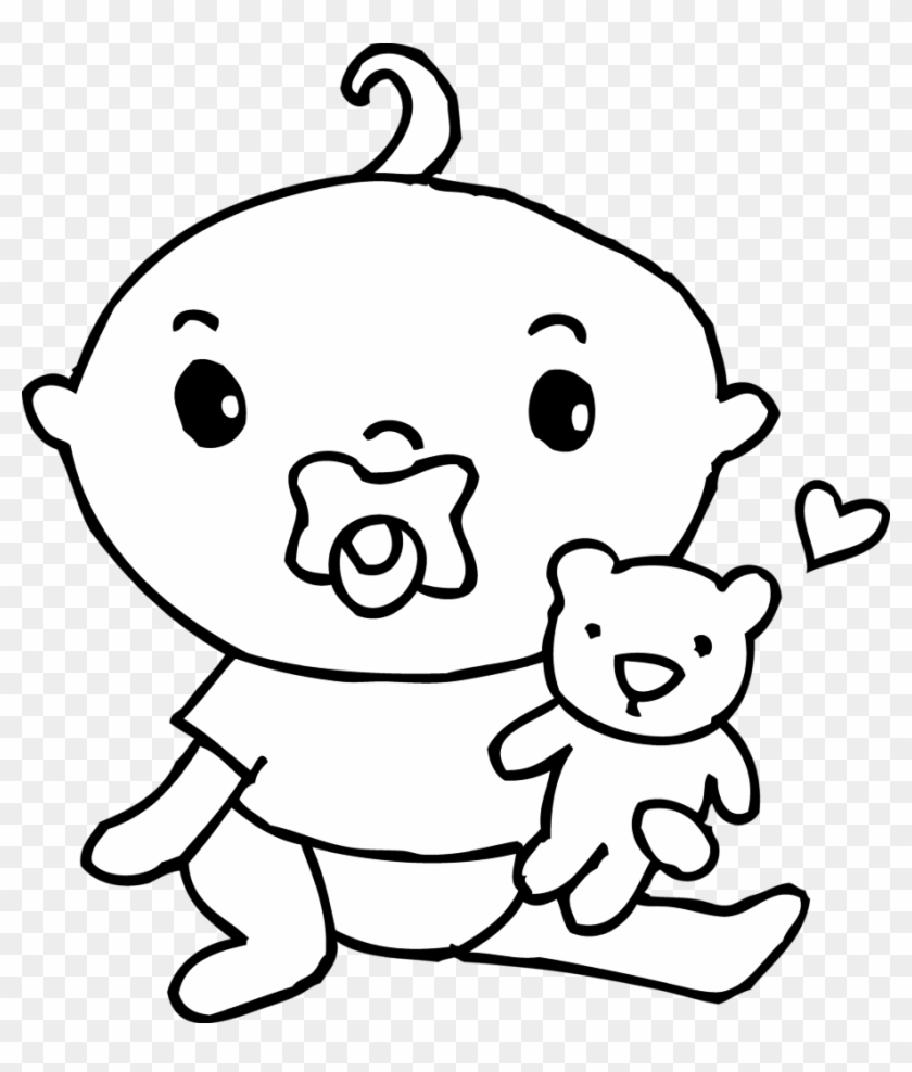 hight resolution of cute baby boy coloring page free clip art baby coloring clip art 24504