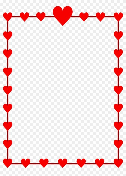 small resolution of free valentine clipart valentines day border clip art 169541