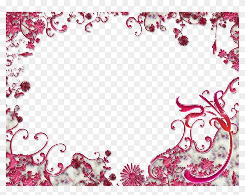 wedding bordure de page fleur rouge