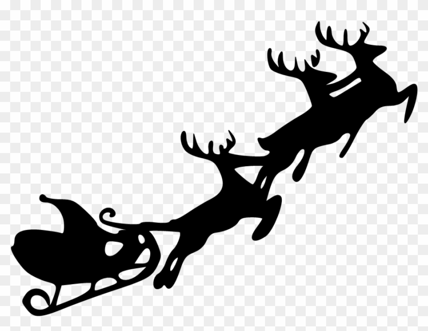Free Reindeer And Sleight Clipart Santa And Sleigh