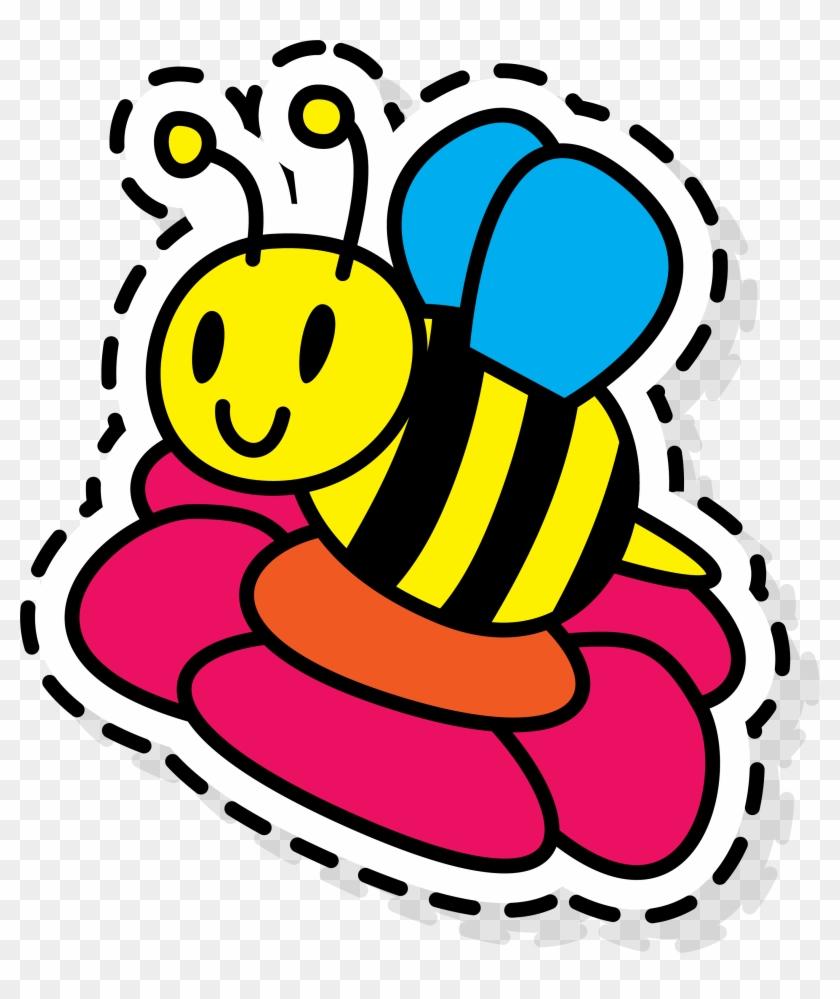 medium resolution of apidae paper clip art abeja de colores