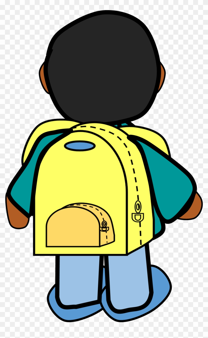 hight resolution of  al cole boy with backpack clipart