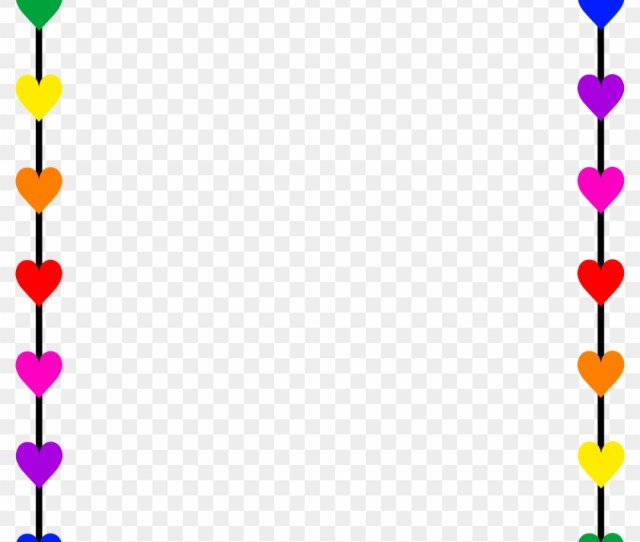 Borders And Frames Clip Art Rainbow Hearts Border Frame Valentines Day Left Right Game