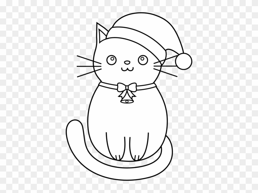 Christmas Coloring Pages Cats Christmas Cat Coloring