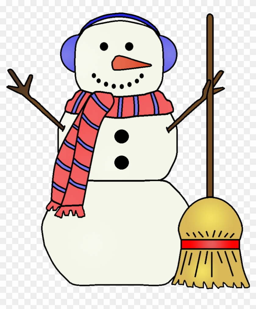 hight resolution of fancy snowman clipart snowman with broom clipart 1018941