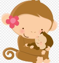 mom baby animal clip art graphics baby shower mother s mom and baby monkey clipart [ 840 x 1039 Pixel ]