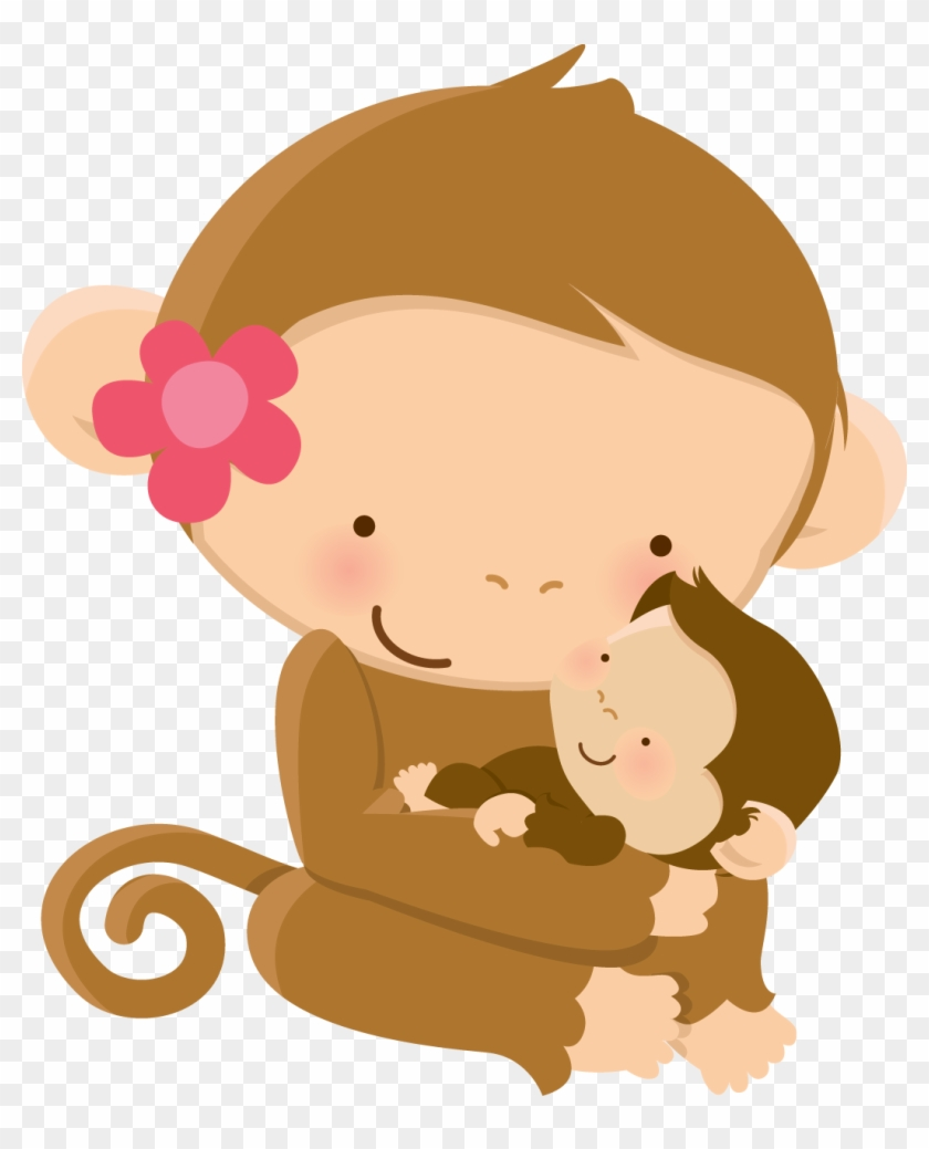 medium resolution of mom baby animal clip art graphics baby shower mother s mom and baby monkey clipart