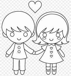 valentine s day clipart love child draw a little boy and girl holding hands 1054042 [ 840 x 955 Pixel ]