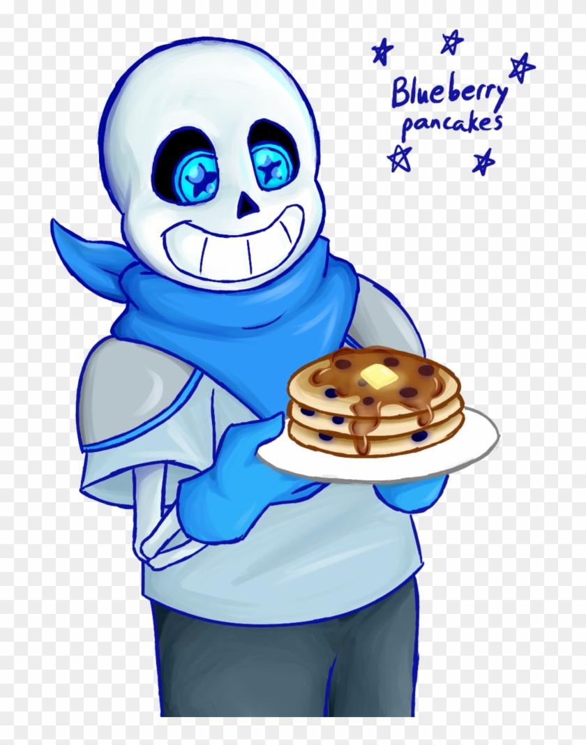 hight resolution of blueberry pancakes by lemurcat cartoon