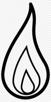Drawn Candle Outline   Flame Clipart Black And White ...
