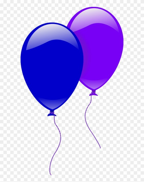 small resolution of party balloons two 2 balloon clipart 187059