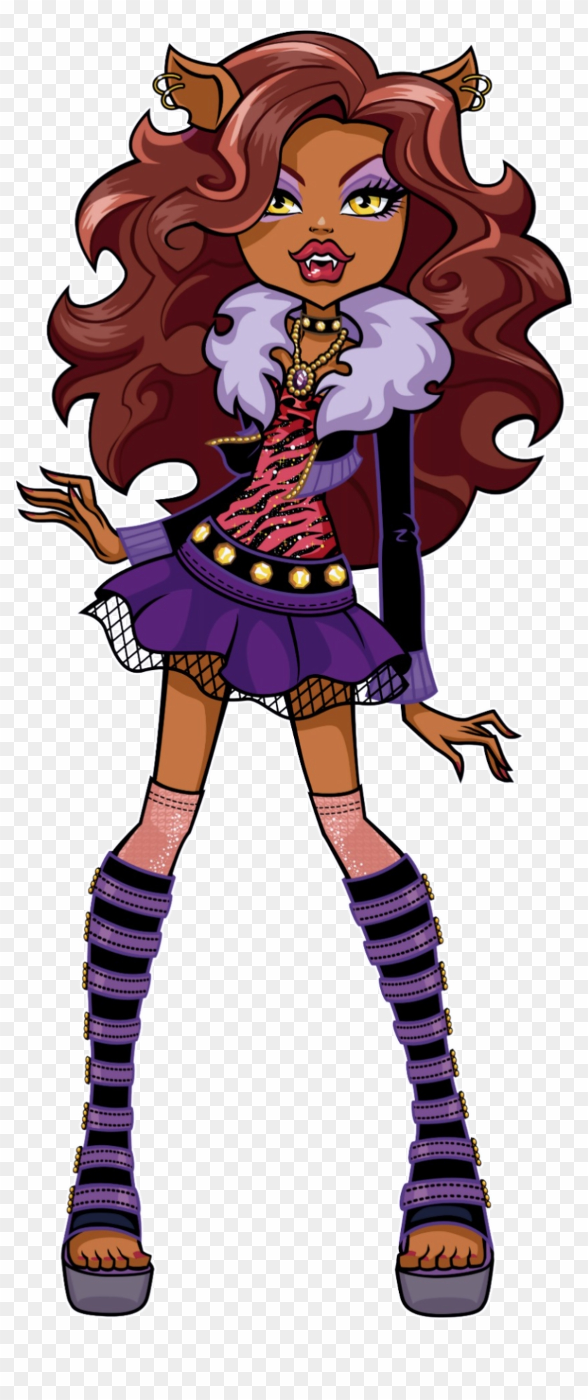Confident And Fierce She Is Considered The School S Monster High Clawdeen Wolf Free Transparent Png Clipart Images Download
